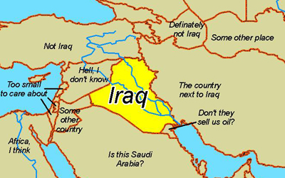 Iraq On Map Bush Correctly Identifies Iraq on Map   DelSquacho